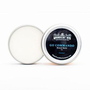 go commando beard balm open