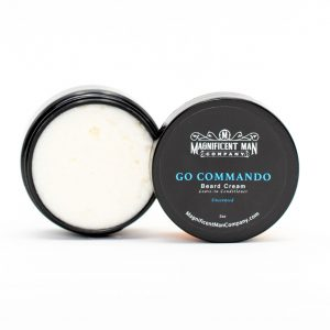go commando beard cream open