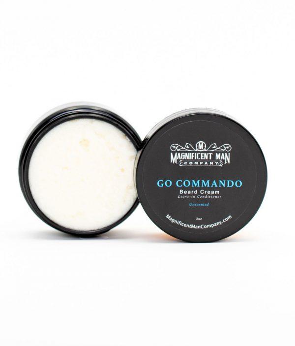 go commando beard cream open