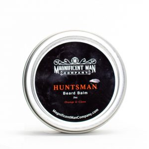 hunstman beard balm container