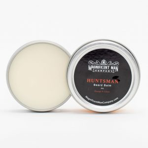 huntsman beard balm open