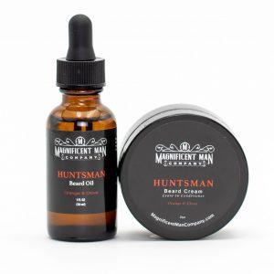 huntsman keep it simple combo beard oil and cream