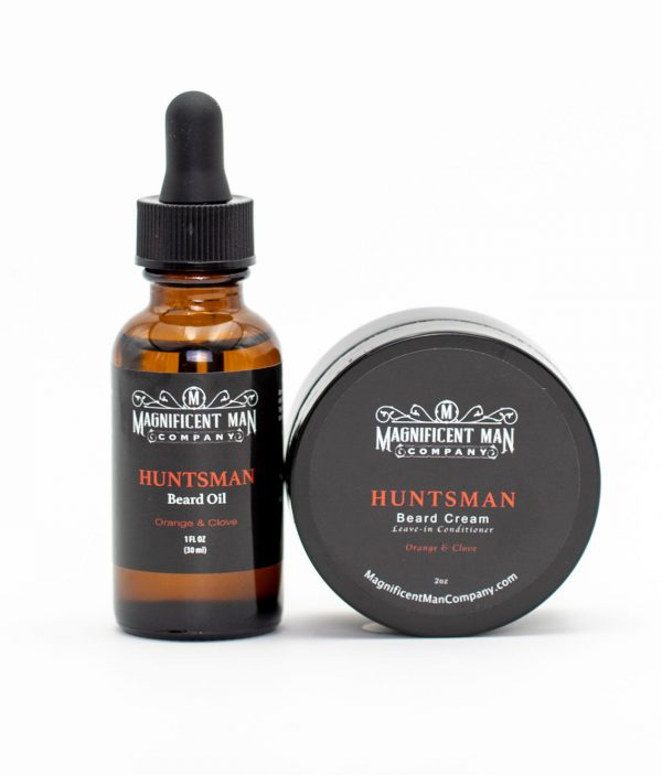 huntsman keep it simple combo beard oil and cream