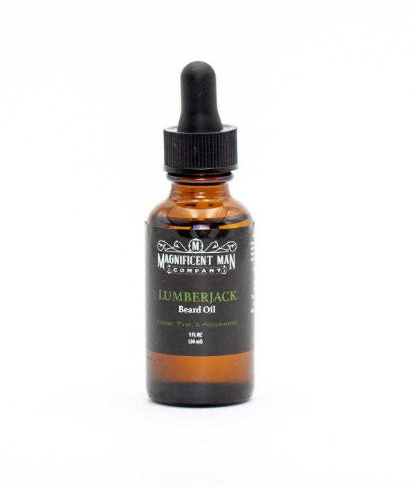 lumberjack beard oil bottle