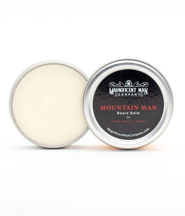 mountain man beard balm open