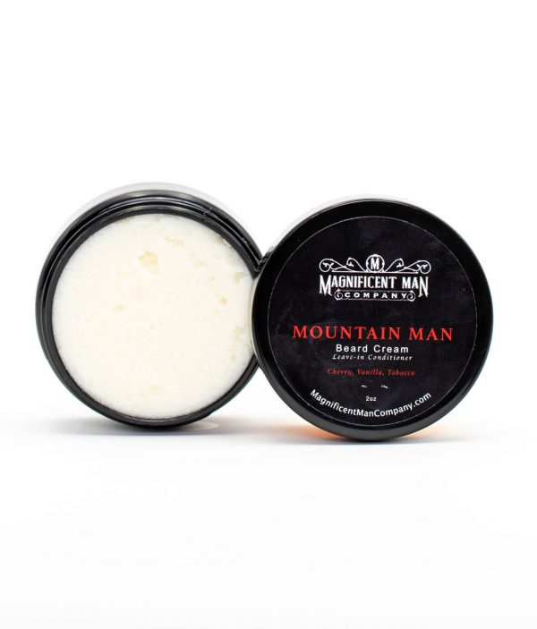 mountain man beard cream open