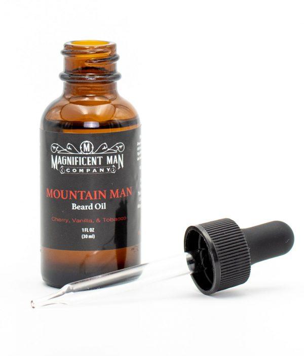 mountain man beard oil open