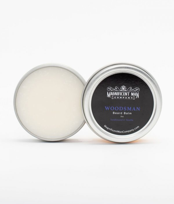 woodsman beard balm open